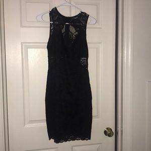Guess mini bodycon lace dress